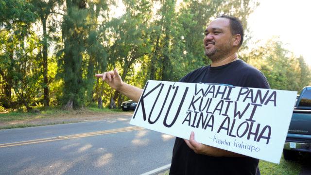 Waimanalo Sherwood Forest Demonstrator Kalani Kalima