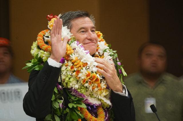 Ceremonial swearing in of Honolulu City Councilmember Tommy Waters.