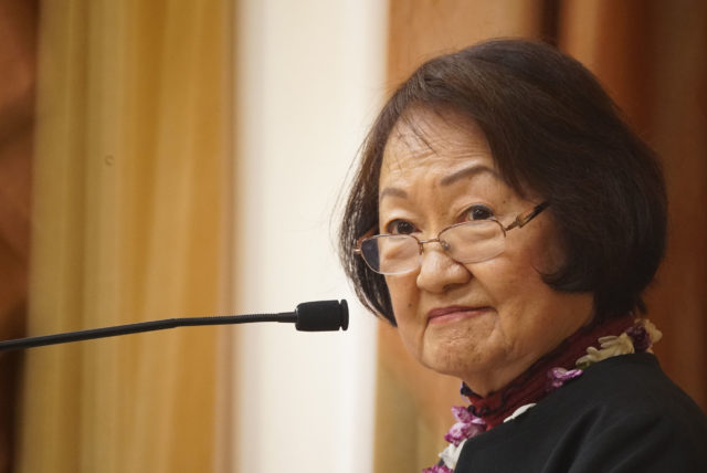 Outgoing Honolulu City Council Chair Ann Kobayashi.