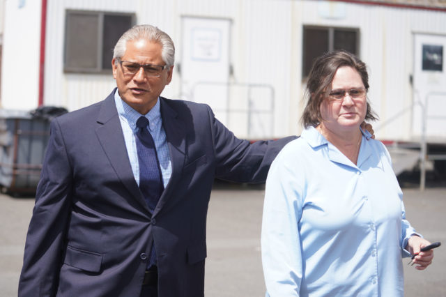Former HPD Police Chief Louis Kealoha and Katherine Kealoha leave Blaisdell after jury briefing held this morning.