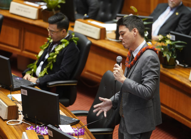 Rep Sean Quinlan makes some remarks on the floor. For Chad's story.