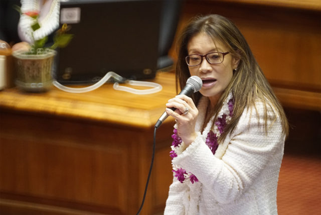 Rep Sharon Har makes some remarks on the floor.