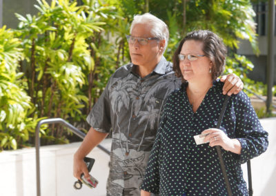 Louis Kealoha and former prosecutor Katherine Kealoha arrive at District Court on May 16, 2019.