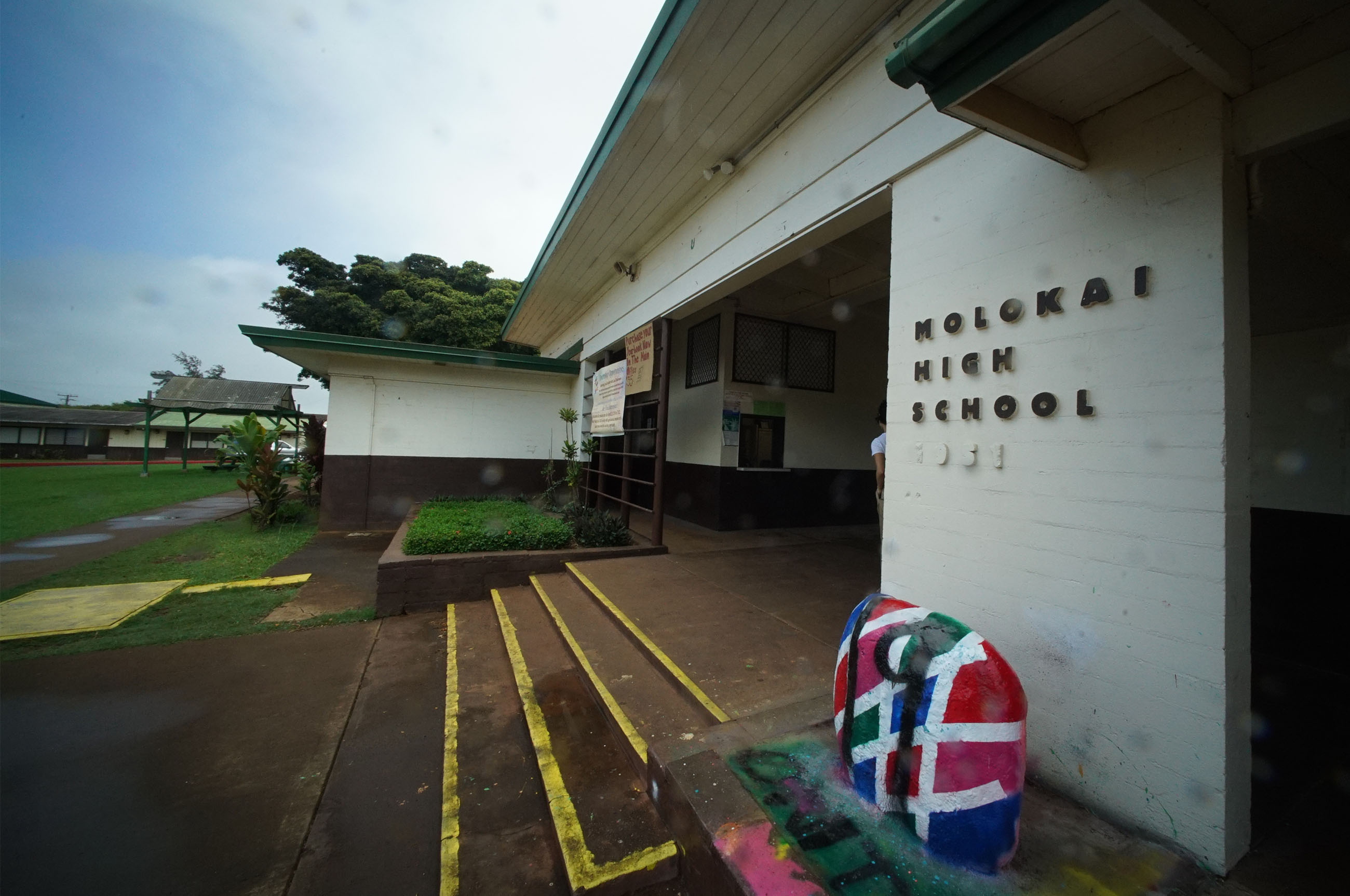 Molokai High School Administration Building.