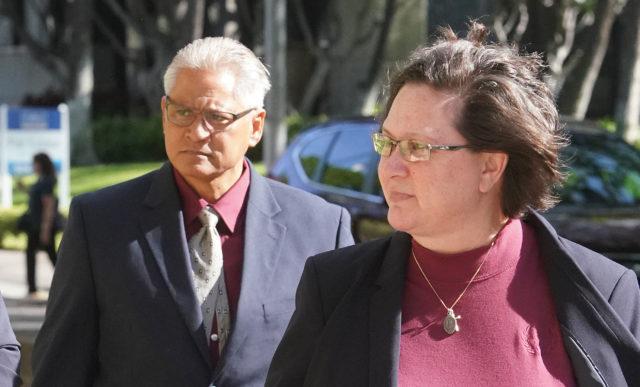 Katherine Kealoha and Louis Kealoha arrive at District Court.
