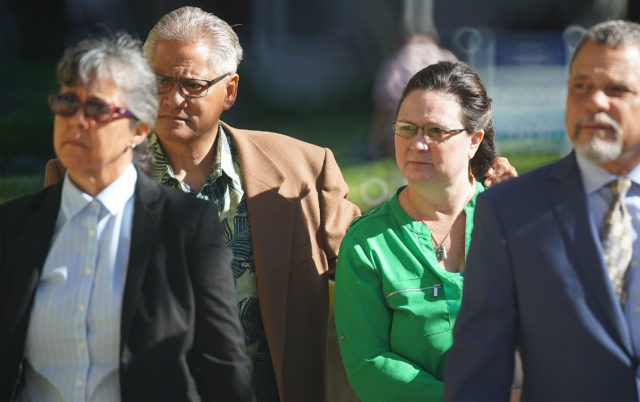 Katherine Kealoha and former HPD Chief Louis Kealoha arrive with their attorneys to District Court. May 24. 2019