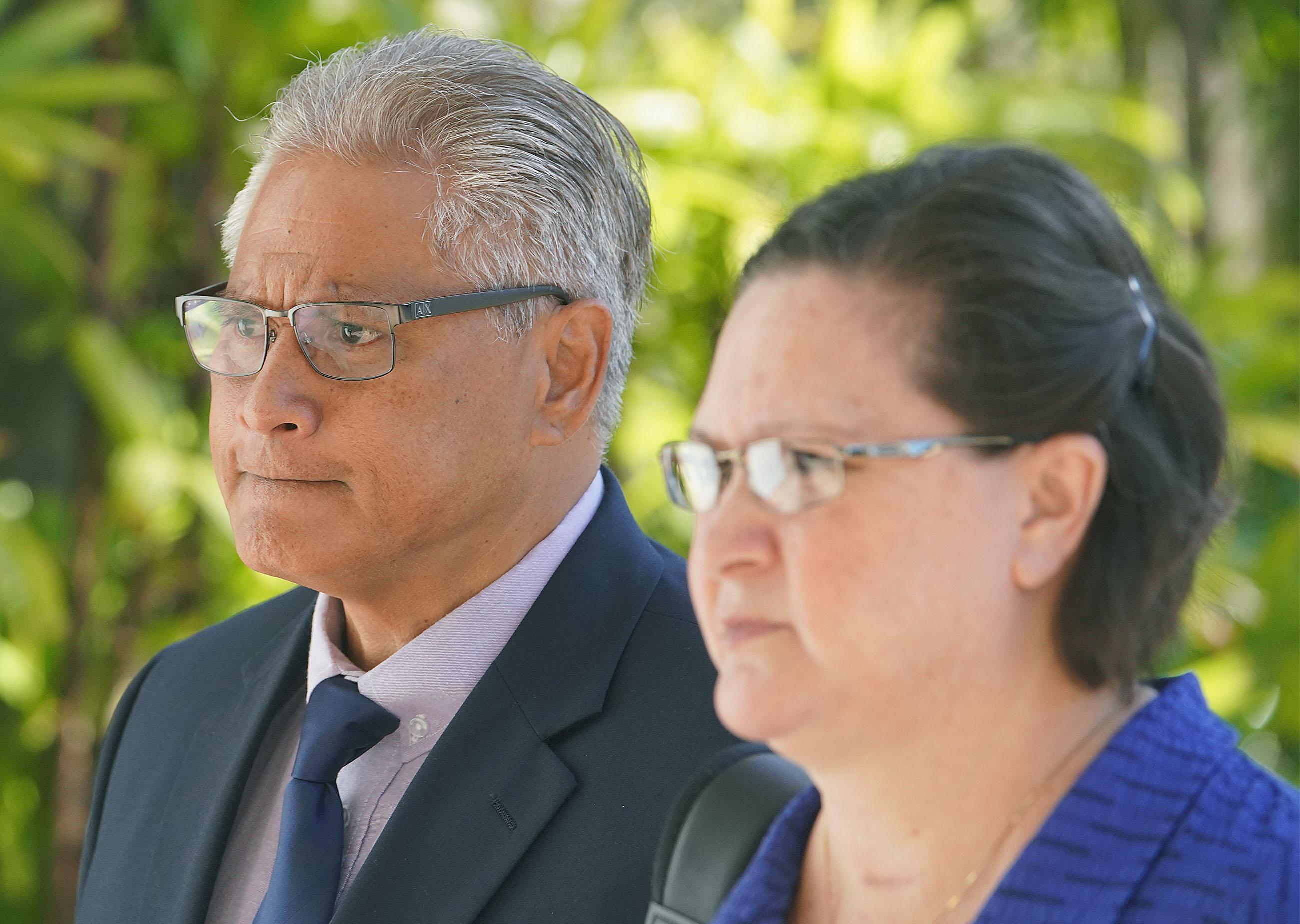 Former HPD Chief Louis Kealoha and Katherine Kealoha arrive at District Court. May 28, 2019