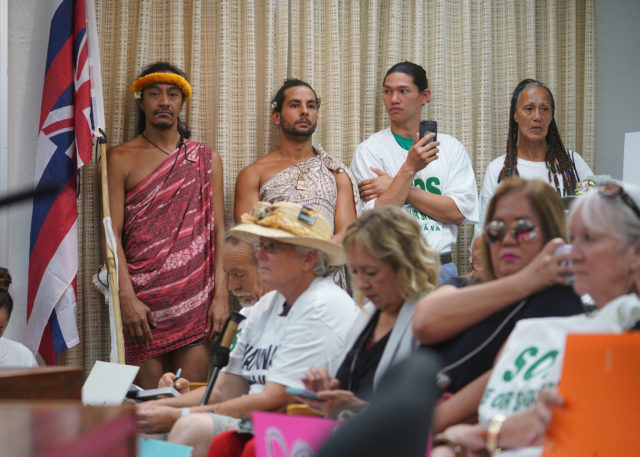 Public Overflowing to testify on Waimanalo Sherwood Forest demolition.