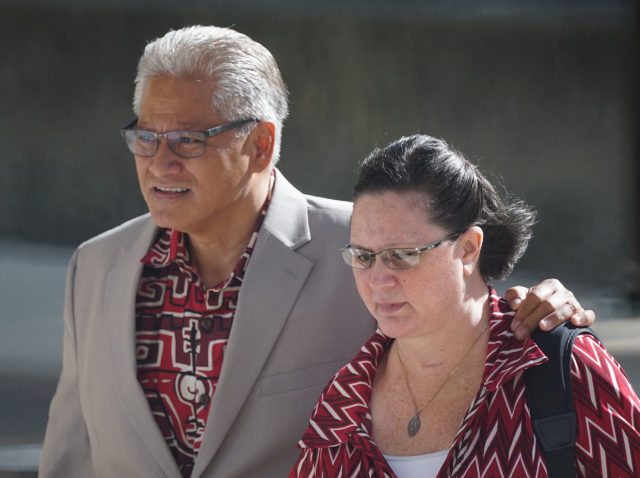 Former HPD Chief Louis Kealoha and Katherine Kealoha arrive at District Court. May 31, 2019.