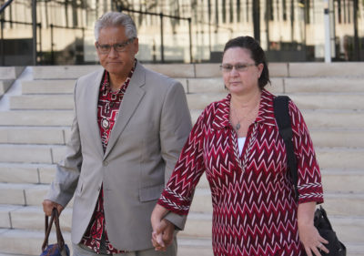 Former HPD Chief Louis Kealoha and Katherine Kealoha leave District Court.