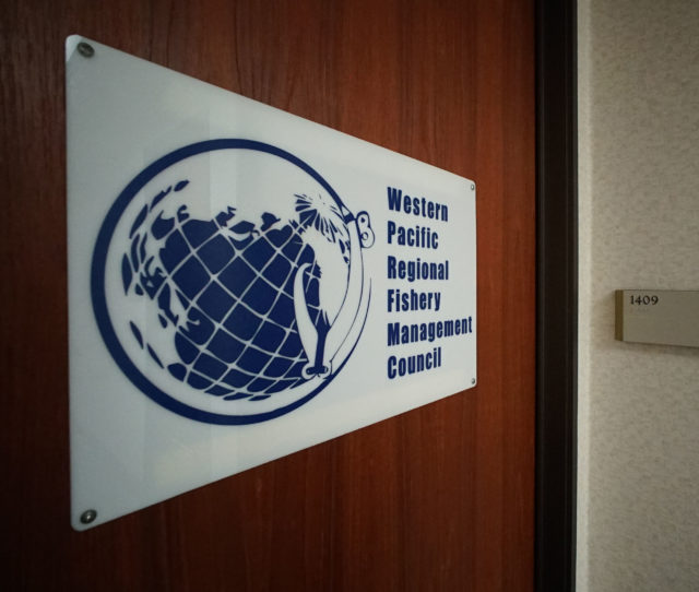 Western Pacific Regional Fishery Management Council sign on door
