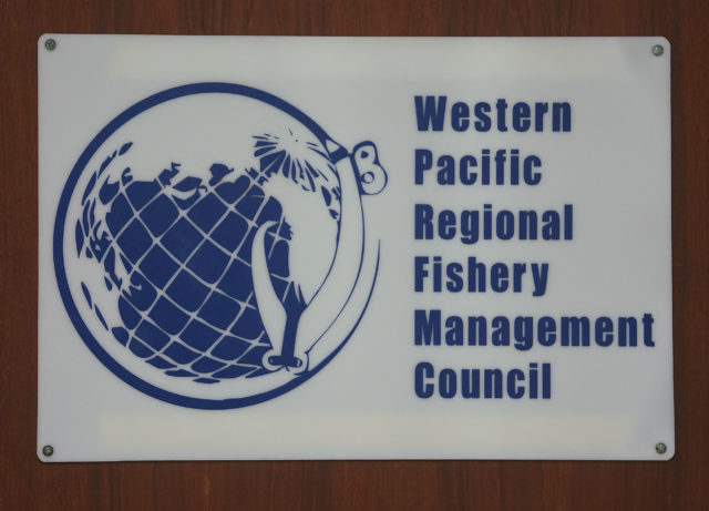 Western Pacific Regional Fishery Management Council sign.