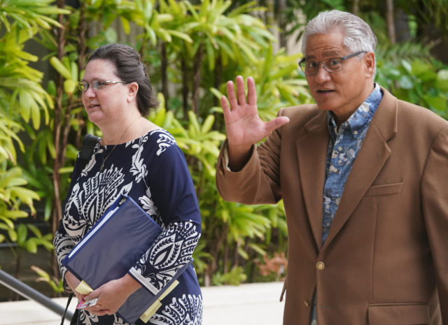 Former HPD Chief Louis Kealoha and Katherine Kealoha arrive at District Court. June 6, 2019