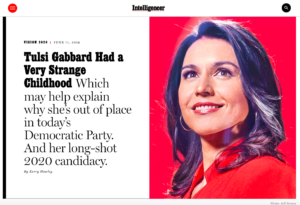 NY Magazine Looks At Rep. Gabbard's 'Very Strange Childhood'