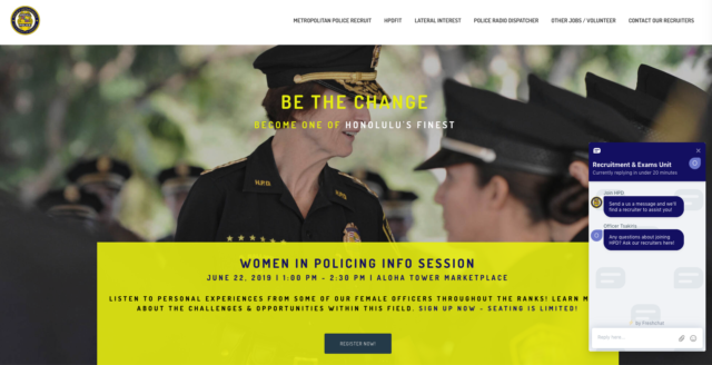 Honolulu Police Recruiting Website