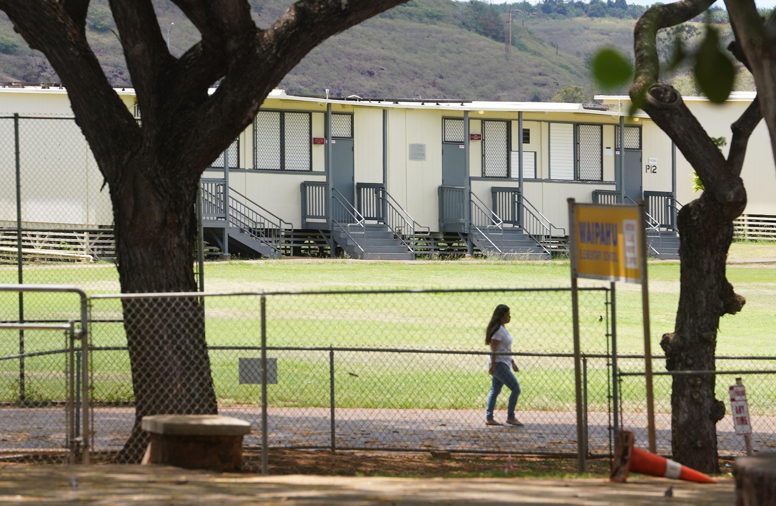 Waipahu Elementary School portable classrooms.