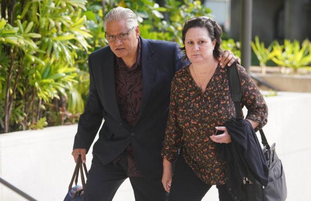 Katherine Kealoha and former HPD Chief Louis Kealoha arrive to District Court. June 20, 2019