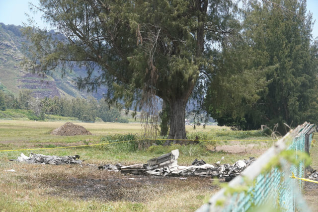Mokuleia Airfield plane crash.