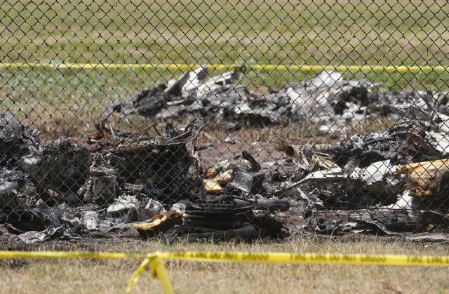 Mokuleia Airfield plane crash closeup.