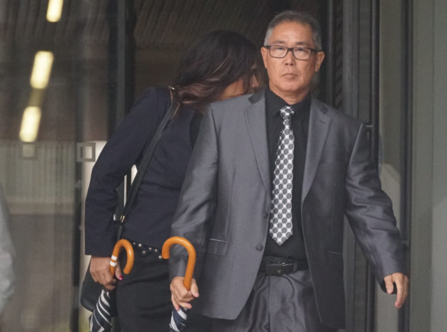 Gordon Shiraishi leaves for lunch recess at District Court. June 25, 2019