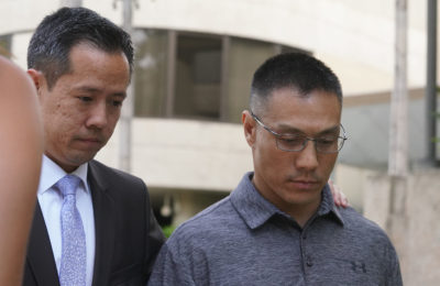 Bobby Nguyen walks out after verdict was read.