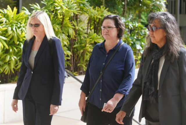 Katherine Kealoha arrives at District Court for sentencing.