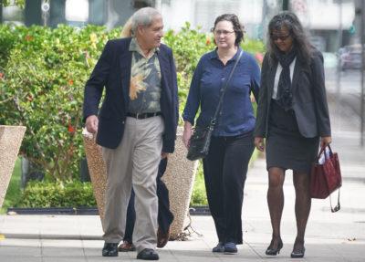Katherine Kealoha walks towards District Court for sentencing.