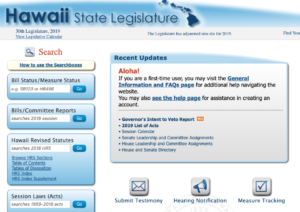 Improvements Made To Hawaii Capitol Website