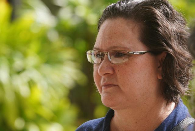Katherine Kealoha walks into District Court for sentencing. June 28, 2019