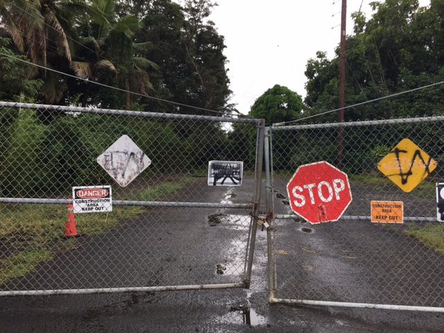 entrance to proposed Kaneohe project