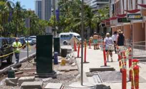 Never-Ending Waikiki Sidewalk Project Hurts Businesses, Obstructs Tourists