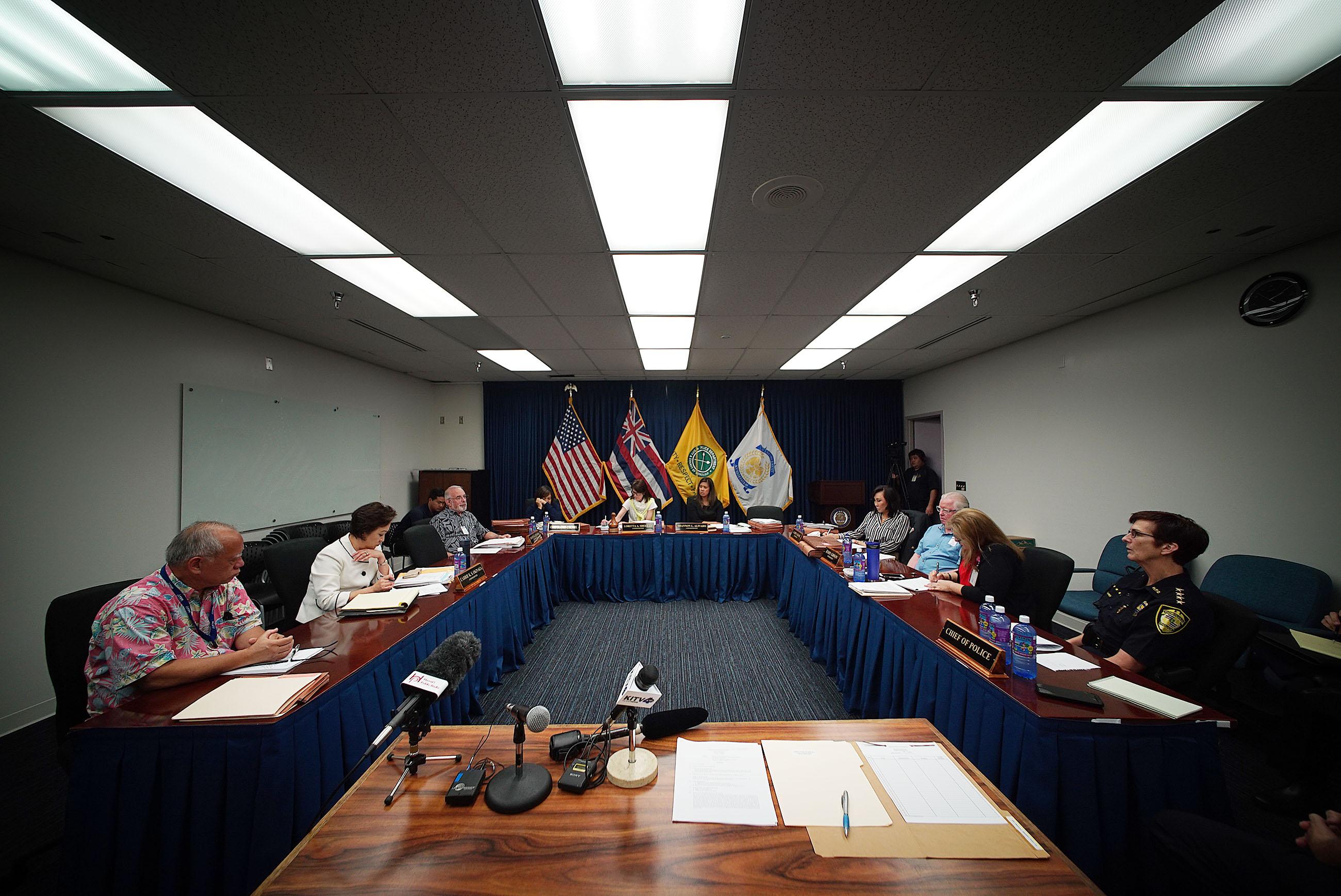 Honolulu Police Commission Meeting. July 2019.
