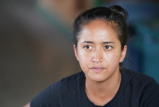 Mao farms 21-year-old Kiana Tector.