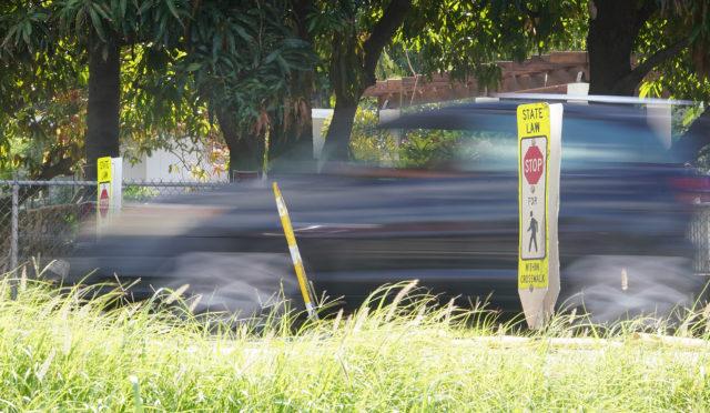 Crosswalk near Piliokahi Street in Waianae close to where Kaulana Werner was killed.