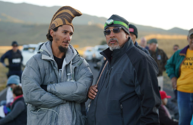 TMT Demonstrators Kahookahi Kanuha and Andre Perez. July 15, 2019