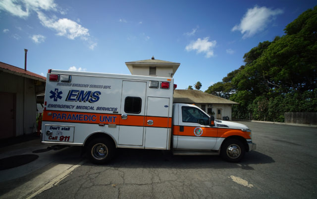 City and County of Honolulu ambulance at Wailupe HFD station.