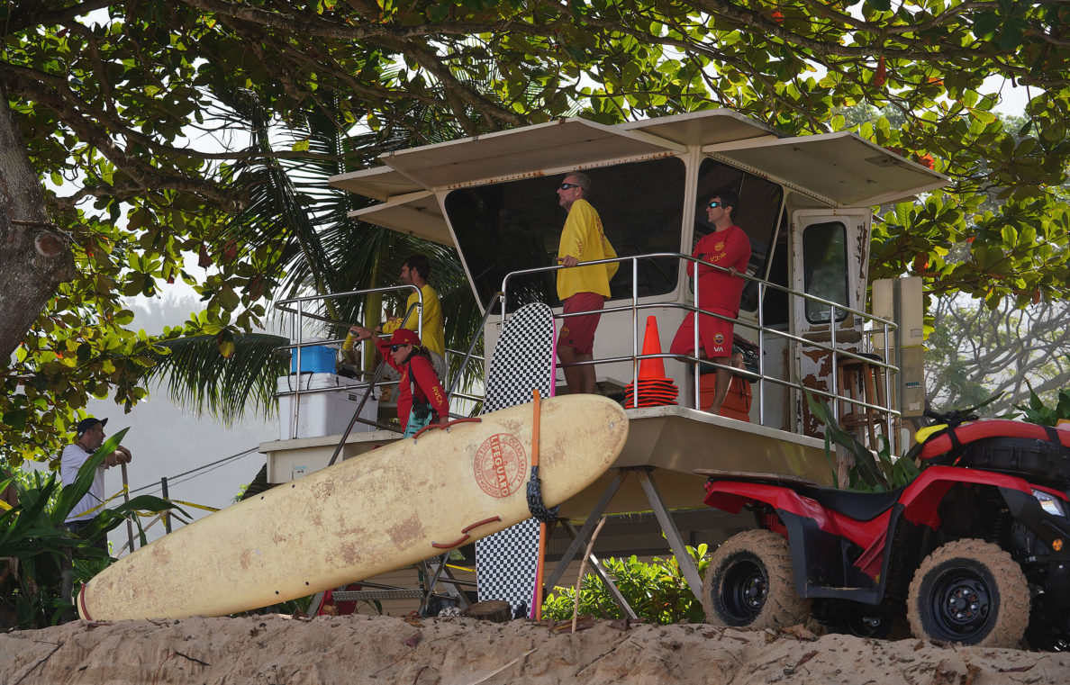 Ehukai Beach Lifeguards in this December 2018 file photograph.