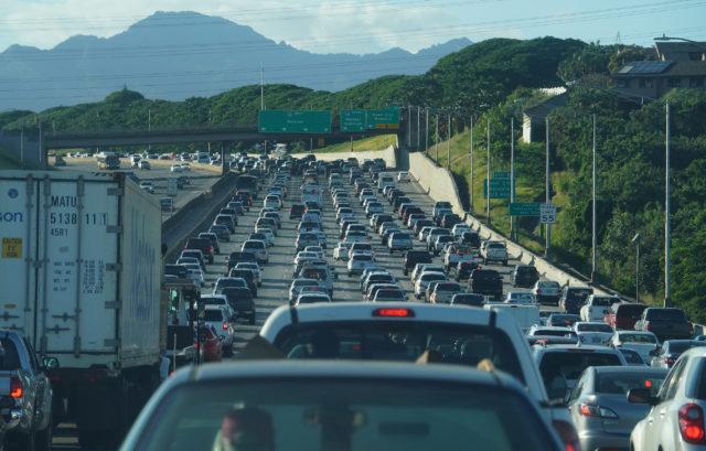 H1 Freeway Westbound Traffic.