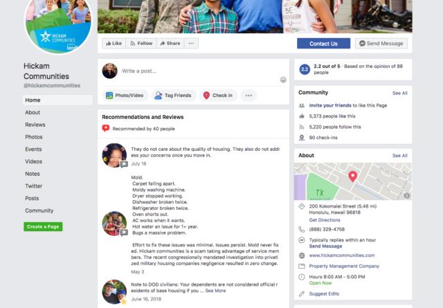 Hickam residents vent their housing frustration on social media