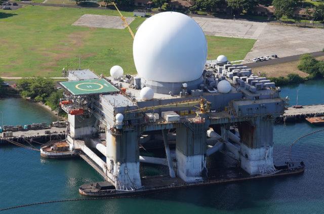Joint Base Pearl Harbor Hickam Sea Based X Band Radar.