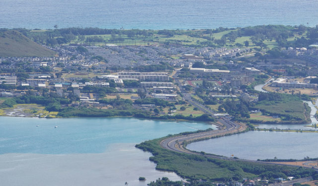 Marine Corps Base Hawaii aerial.