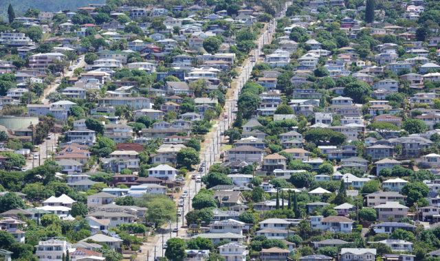 Wilhemina Rise homes below Maunalani Heights.