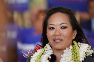 Attorney Megan Kau announces her candidacy for Honolulu city prosecutor.