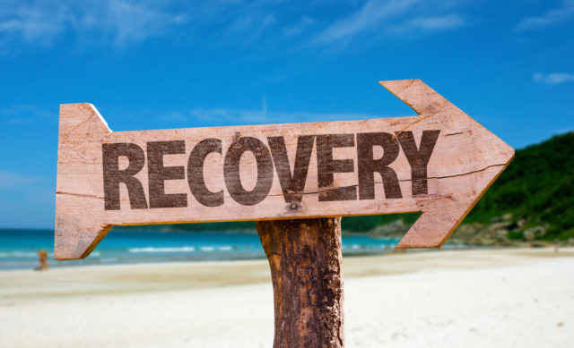 Recovery directional sign