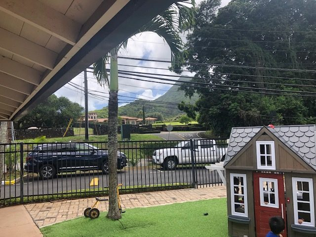 Children at Trinity Christian Church heard the simulated gunfire from a Hawaii Five-O shooting