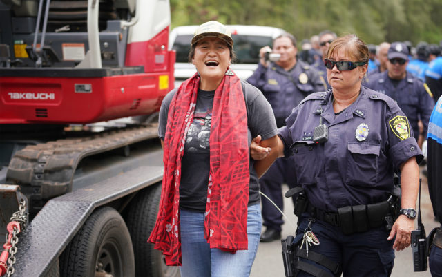 Sherwood Forest Supporters arrested by HPD after allegedly blocking construction equipment from entering the Sherwood Forest area.