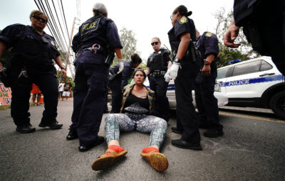 Police Arrest 28 Protesters Blocking Construction At Waimanalo Park