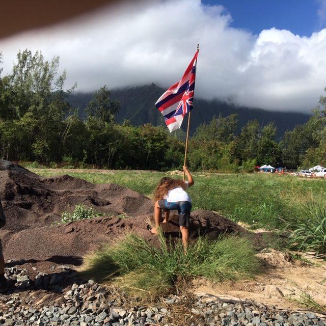 Hawaiians say that park where city had begun construction is sacred