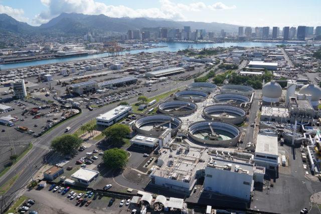 Sand Island Wastewater Treatment area Honolulu Harbor 00193.