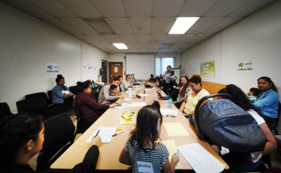 Oahu Youth Action Board Meeting with child carriers, kids and more kids as members meet at DOE 475 22nd avenue room B1.